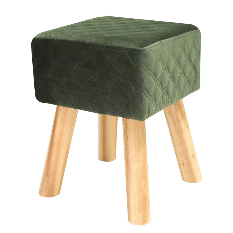 Square Stool With Pine Wood Legs Hs Wl9e Wuxi Housetex Industries Co Ltd